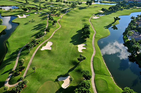 Aerial View of Golf Courses