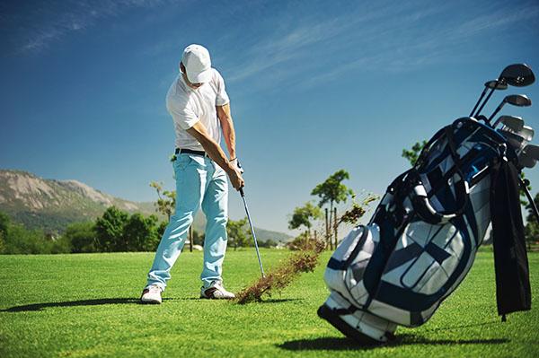 Golf shot routine